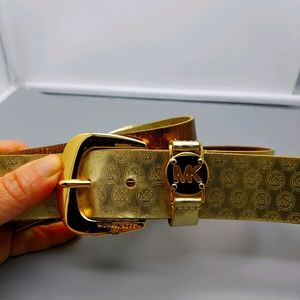 Michael kors gold belt size xl